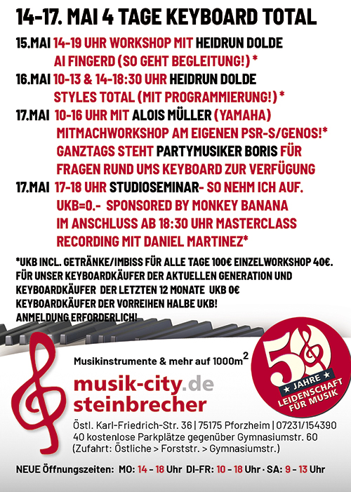 Keyboard Days Flyer Rückseite